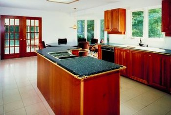 Adding granite tiles to a countertop is a remodeling option.