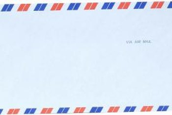 Avoid fancy fonts, backgrounds or envelopes when sending professional letters.