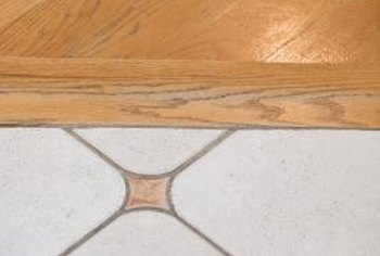 Tile floors hold up better than linoleum or laminate floors.