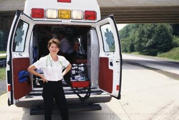 EMTs often work in the back of ambulances.