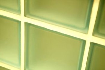 Glass tiles are available in many shades.