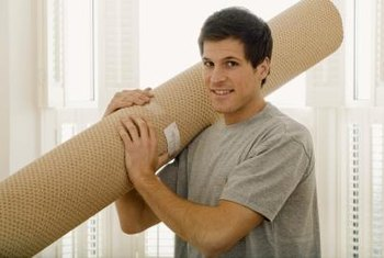 Part of the process of installing wall-to-wall carpeting involves stretching the carpet.