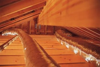 Improper insulation around ductwork can cause air leaks in attics.