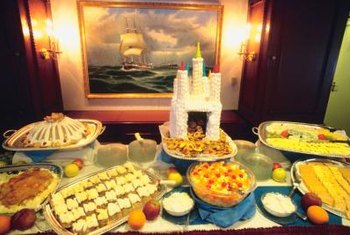 Tiered pricing often is used for buffet-style catered meals.