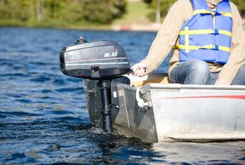Many small outboard motors use two-cycle engines that need mixed fuel.