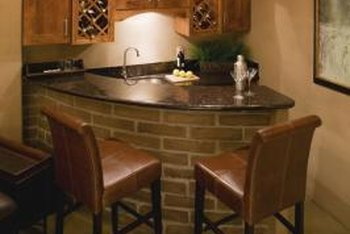 A home bar is a natural place to gather and socialize.