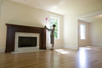 A nicely waxed floor will not have any buildup and will shine in the sunlight.