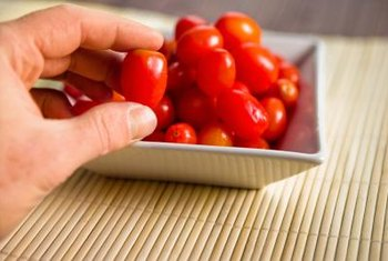 Grape tomato's small size and sweet flavor are ideal for snacking.