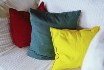 One throw pillow takes about an hour to make.