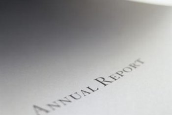A company's annual financial report provides information about its earnings, prospects and investments.