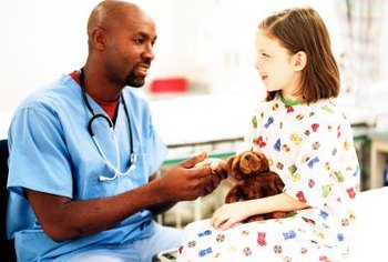 Pediatricians use certain personality traits to put patients at ease.