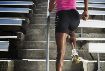 Stair machines are easier on your joints than concrete stairs.