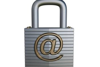 Email in a separate file can be password protected or kept on a USB memory stick.
