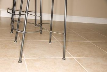 Tile can be applied over most rigid, level surfaces.