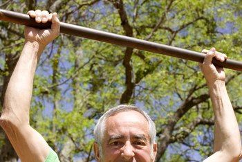 A homemade pullup bar allows you to perform kipping pullups.