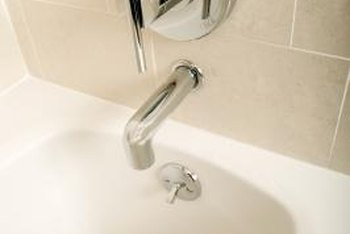 Replace a broken bathtub knob.