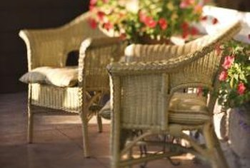A sunny porch or a sun room is a suitable setting for wicker chairs.