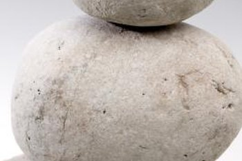 Look for a small, medium and large river rock to use as a lamp base.