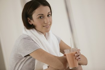 Protein shakes containing whey and casein provide the benefits of both.