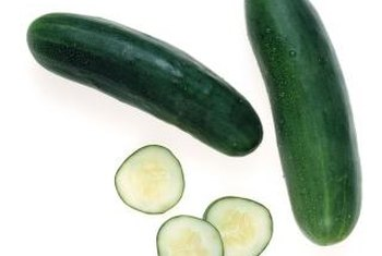 Place sliced cucumbers on ice to keep them crisp until serving.