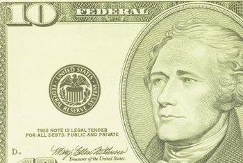 Alexander Hamilton is memorialized on the U.S. $10 bill.