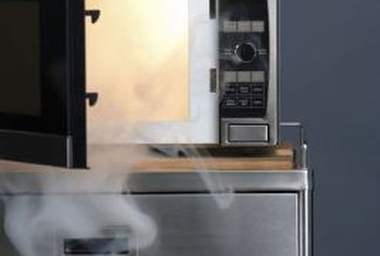 Clean the inside of the microwave with steam.