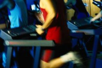 Keep your head up when you're jogging on a treadmill.