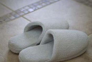 Forget the slippers if your tile floor is already warm.