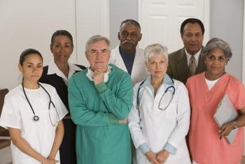 A nurse manager works with a diverse group of people.