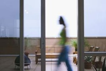 Sliding glass doors sealed against winter weather save money.