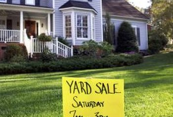 Shop for good used furniture at yard sales and auctions.