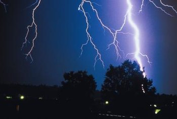 Lightning can cause devastating damage to property.