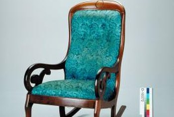 Refinish the wood and reupholster the cushions for a new/old rocking chair.