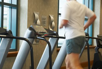 A treadmill provides the cardio exercise component of circuit training.