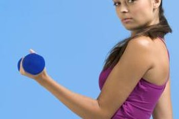 Hand weights can help tone your smaller muscles.