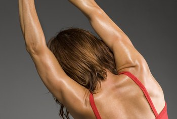 Tighten the muscles around your bra with resistance training exercises.