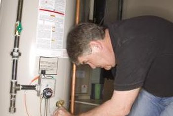 installing a gas fired water heater in a closet requires attention to special safety requirements.