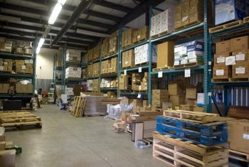 A distributing business may carry inventory or may use a logistics service for inventory management.