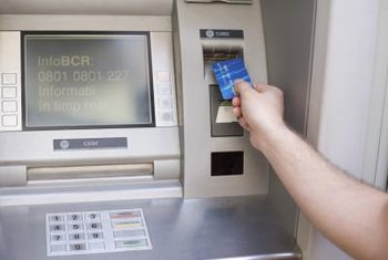 Automated teller machines allow bank customers to withdraw cash without seeing a teller.