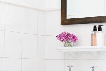 A mirror frame gives your bathroom a more finished appearance.