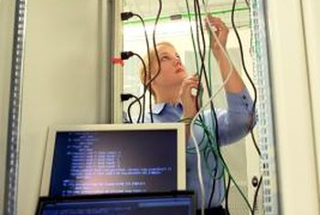 Network systems technicians install and maintain network components.
