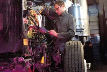A successful truck repair shop has trained mechanics on staff.