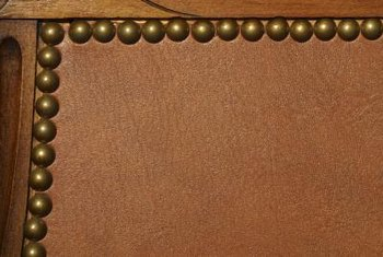 Leather furniture often features nailhead trim.