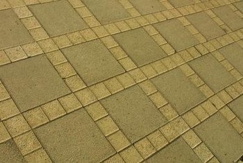 Scoring created the look of grout lines.