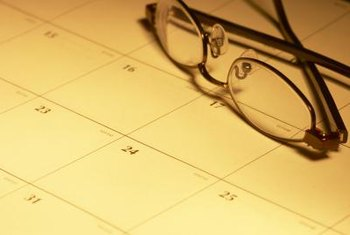 Use a calendar to schedule projects.