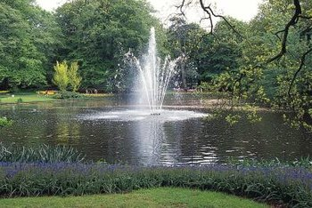 Some pond aerators shoot water into the air to circulate it.