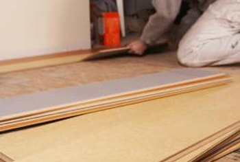 Laminate floors are made for easy installation.