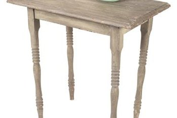Old furniture looks charming but ensure that it's sturdy and well-built before attempting an aging project.