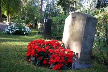 Undertakers can schedule flowers to be delivered to a grave.