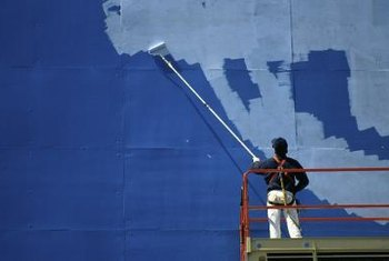 Painting contractors handle jobs both large and small.